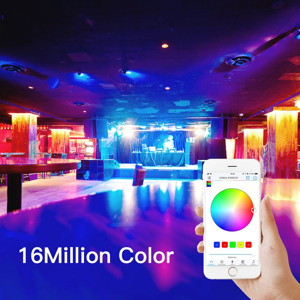 Android and iOS Free App Bluetooth LED Strip Light Controller HaoDeng Bluetooth RGBW//RGB Controller for LED Light Strips
