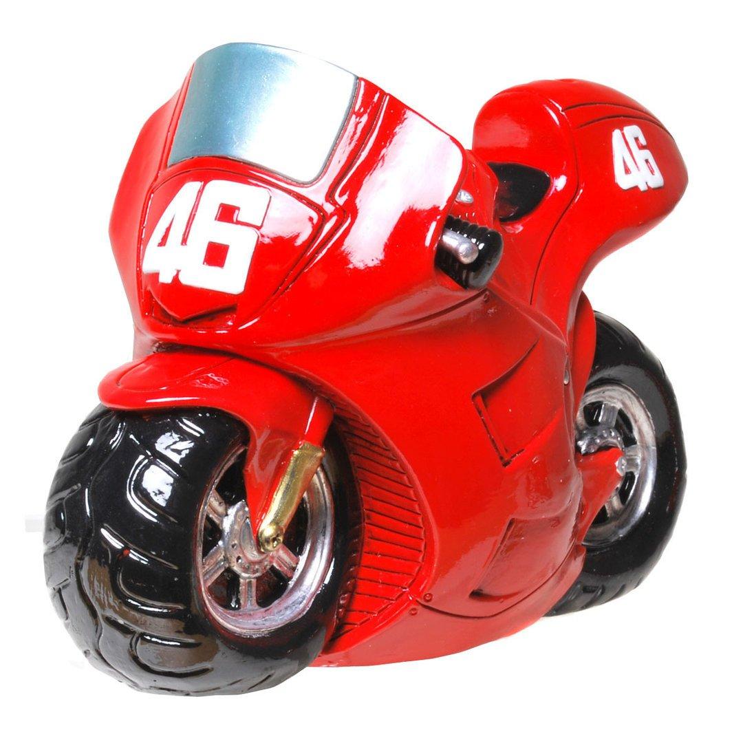 Udo Schmidt GmbH /& Co Magnifique Tirelire de Moto avec po/êles Rouge
