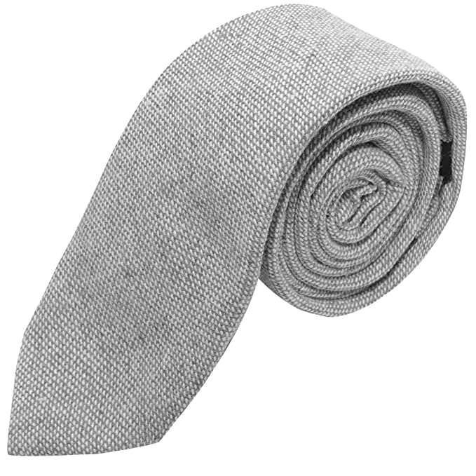 Corbata gris claro tejido lavado en piedra: Amazon.es: Ropa y ...
