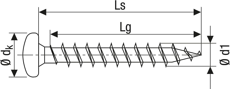 6x20mm Spax 0//1051//001//6,0//20// //01 Tornillo para yeso