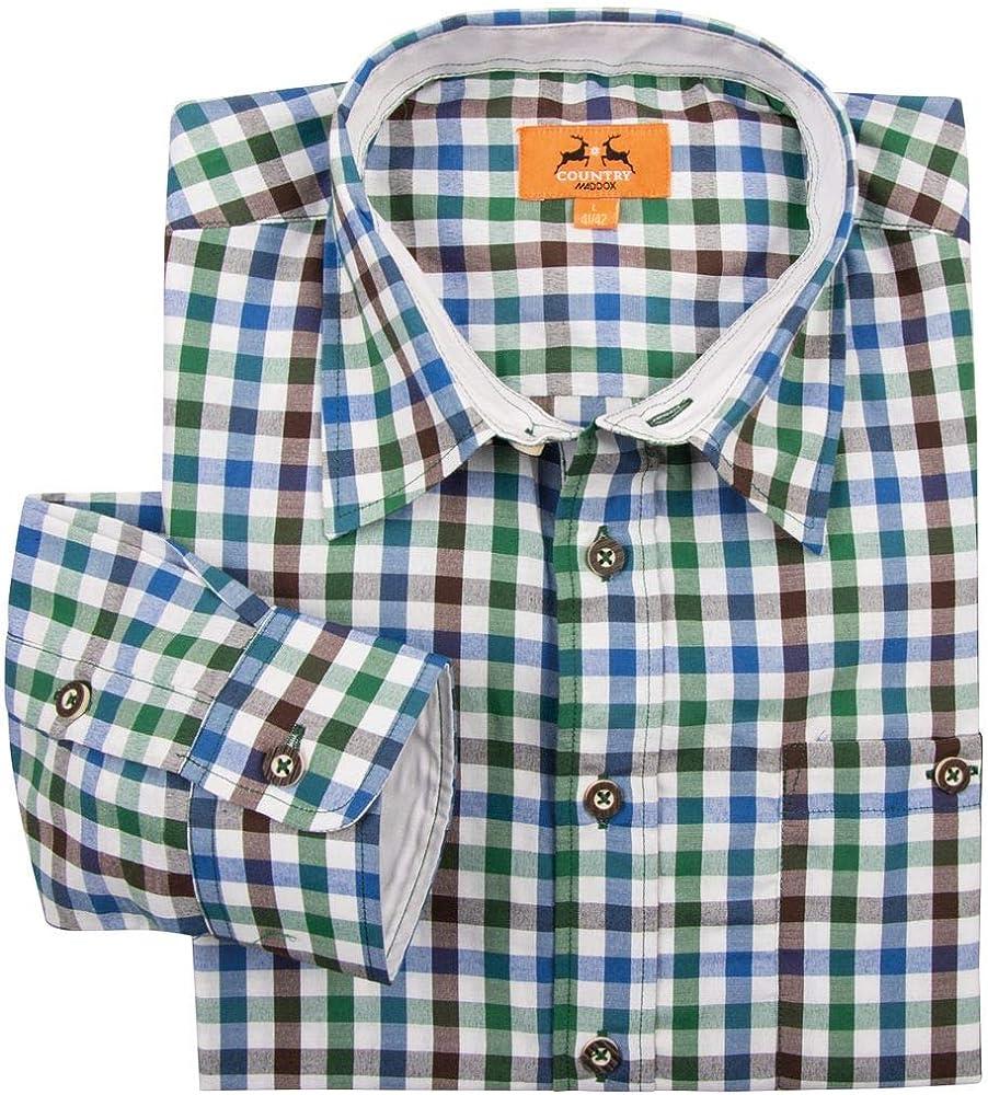 Maddox XXL Camisa Tradicional a Cuadros Azul-Verde-marrón, 2xl-8xl:2XL: Amazon.es: Ropa y accesorios