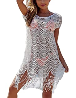 256c371220 Ailunsnika Casual Swimsuit Cover Up for Women Loose Beach Bikini Dress