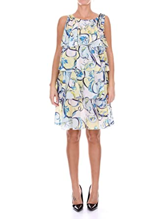 uk availability 2e969 e0cfc Emilio Pucci Women's 81Wg0181772065 Blue Cotton Dress at ...