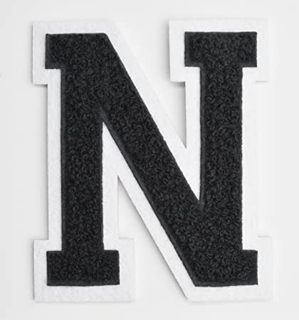 varsity letter patches black embroidered chenille letterman patch 4 12 inch iron