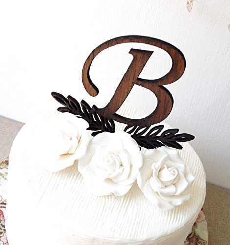Amazon Com Monogram Cake Topper Wedding Cake Topper Rustic Cake