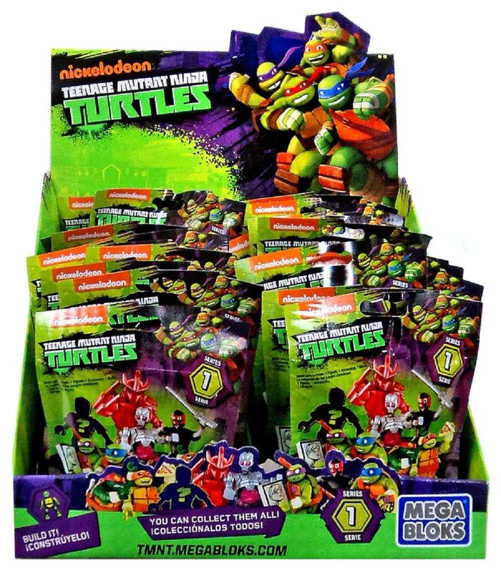 Mega Bloks Teenage Mutant Ninja Turtles TMNT Series 1 Mystery Box(Assorted Series)