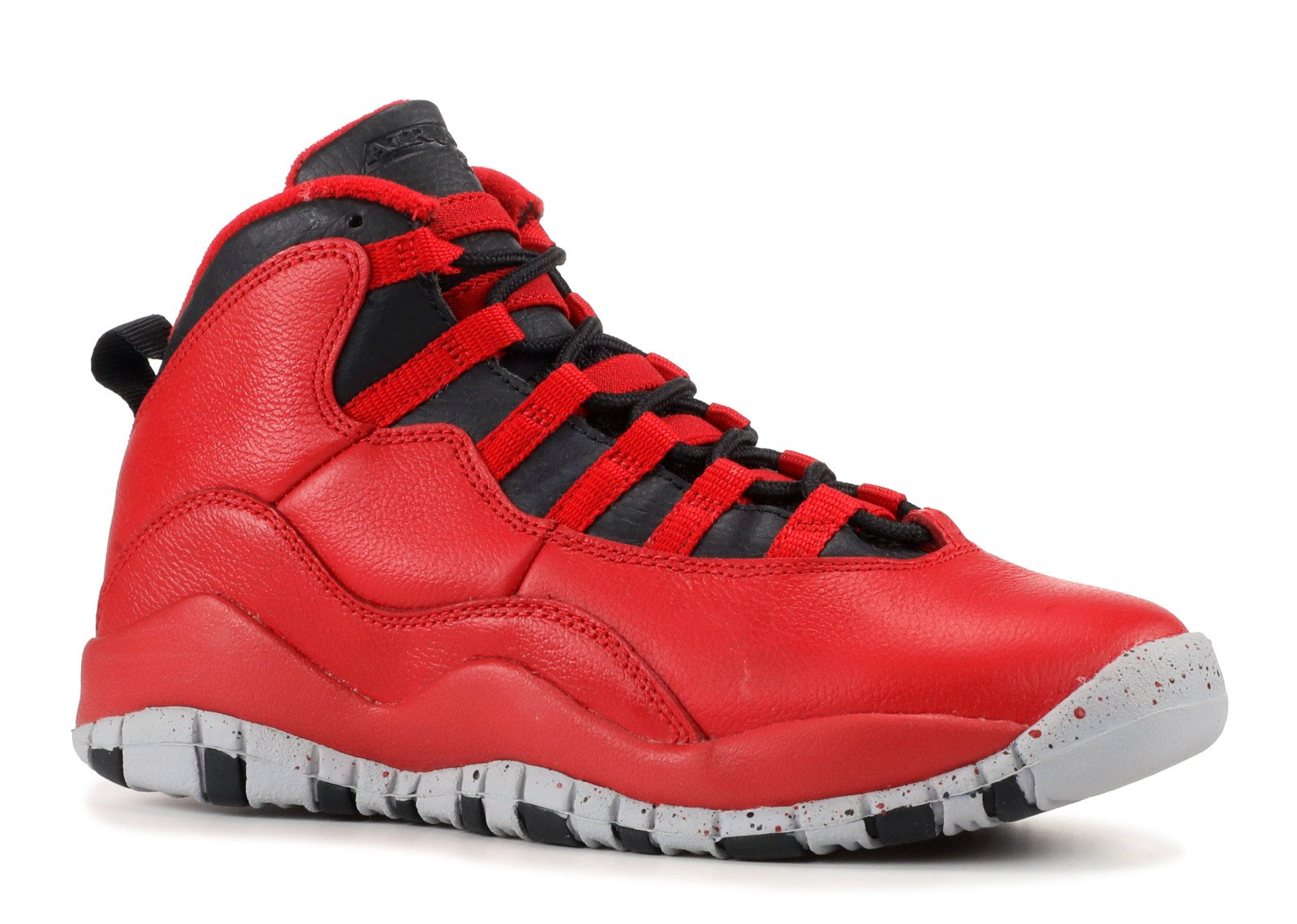 Jordan Air 10 Retro 30th BG Bulls Over Broadway Big Kids Shoes Gym Red/Black-Wolf Grey 705179-601 (4 M US) by Jordan