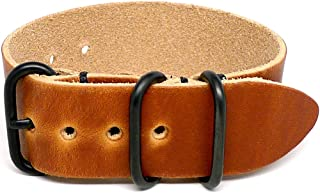 product image for DaLuca 1 Piece Military Watch Strap - Natural Dublin (PVD Buckle) : 26mm