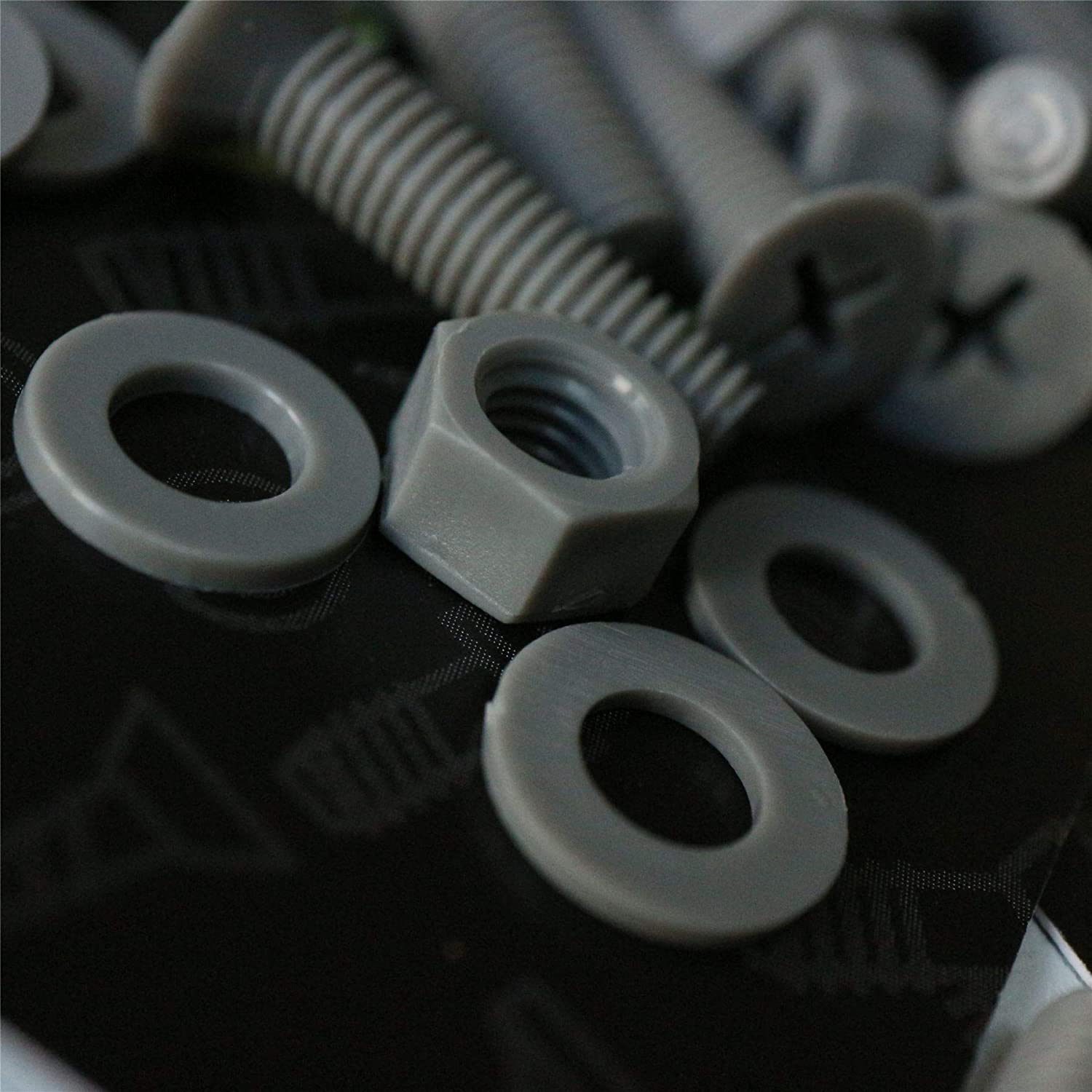 Acrylic Washers Plastic Nuts and Bolts M5 x 20mm Anti-Corrosion PP 20 x Grey Countersunk Screws Polypropylene 13//64 x 25//32 Gray Gray Water Resistant 13//64 x 25//32 Caterpillar Red Chemical Resistant