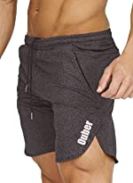 Ouber Men's Bodybuilding Lifting Gym Workout Sweat Shorts