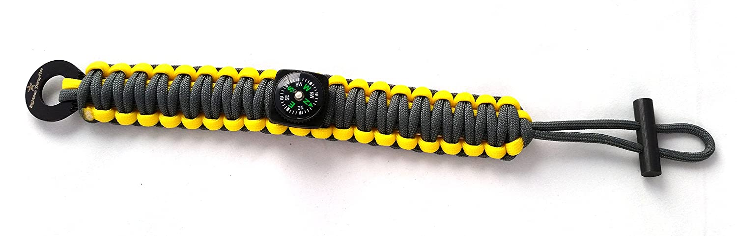 Wilderness Edition New Paracord Survival Bracelet with Survival Gear and Compass By Eighteen Thirty-five