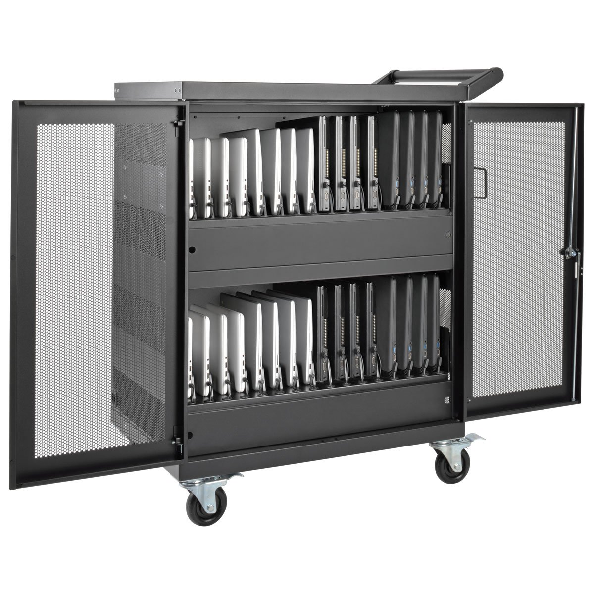 Tripp Lite 32-Port AC Charging Cart Storage Station for Chromebooks, Laptops & Tablets (CSC32AC)