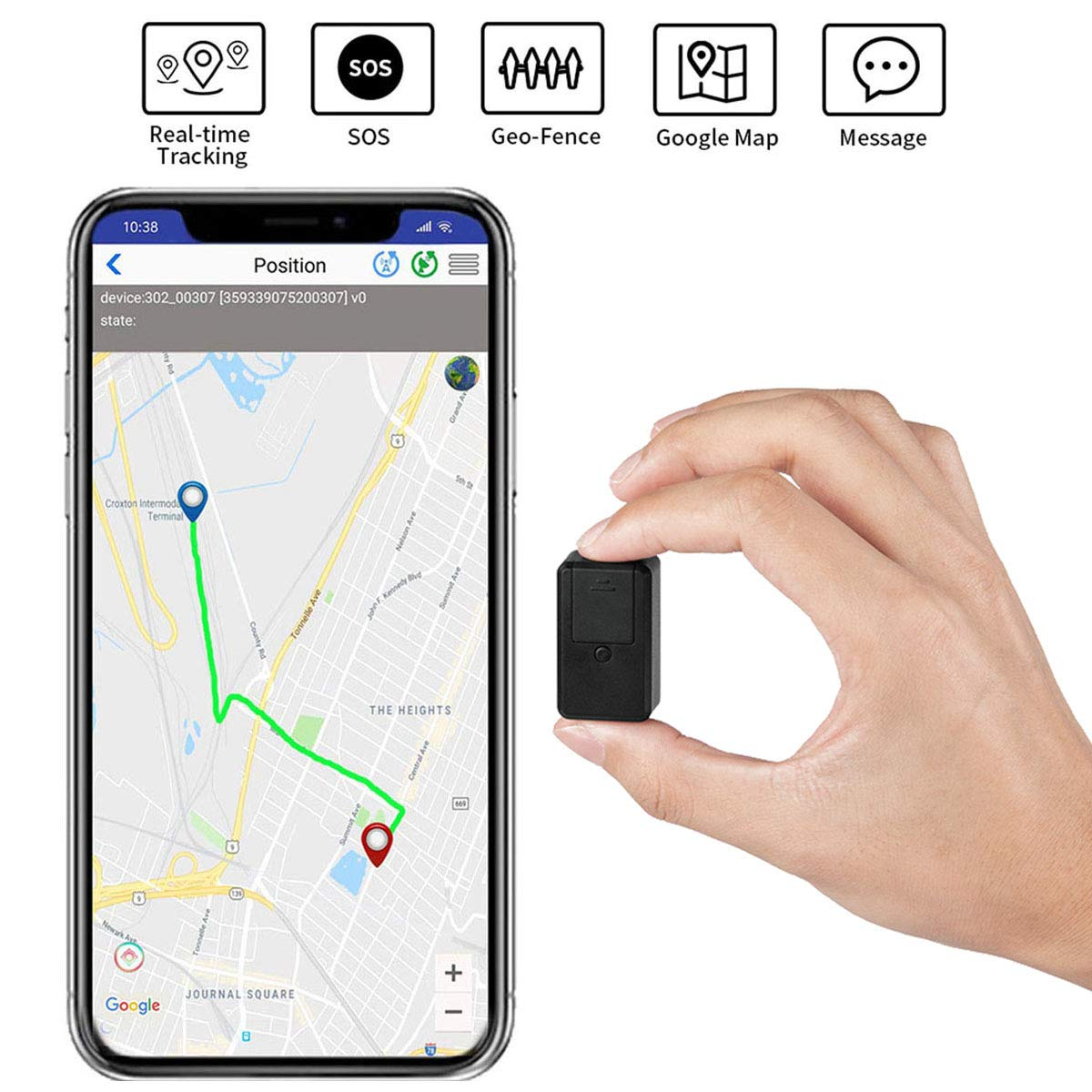 Mini GPS Tracker Portable SOS 2G GPS Location Tracker Real Time Tracking with Magnetic for Vehicles Kids Dogs Cats Keys Motorcycles Pets Car by DICPHIL