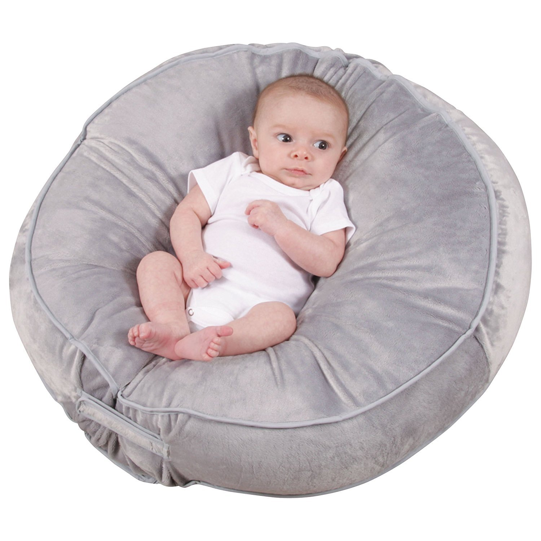 amazoncom  leachco podster plush slingstyle infant lounger  - amazoncom  leachco podster plush slingstyle infant lounger  gray  baby