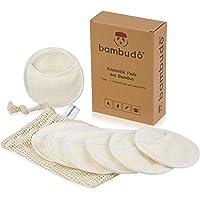 bambudo® Waschbare Abschminkpads aus Bambus-Viskose | 7 Stück wiederverwendbare Kosmetikpads | 1 Waschsack aus Baumwolle