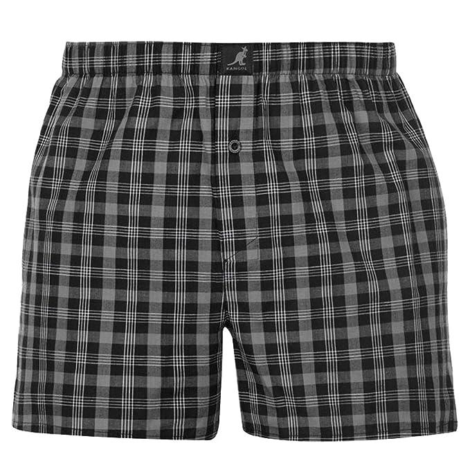9e986336ae2565 Kangol. 4 Pack Mens Casual Woven Boxer Shorts Underwear: Amazon.co.uk:  Clothing