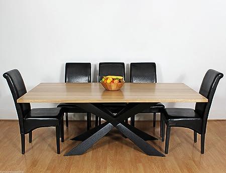 Large Georgio Modern Chic Rustic Metal U0026 Wood Dining Table 8 10 12 Seater  (10