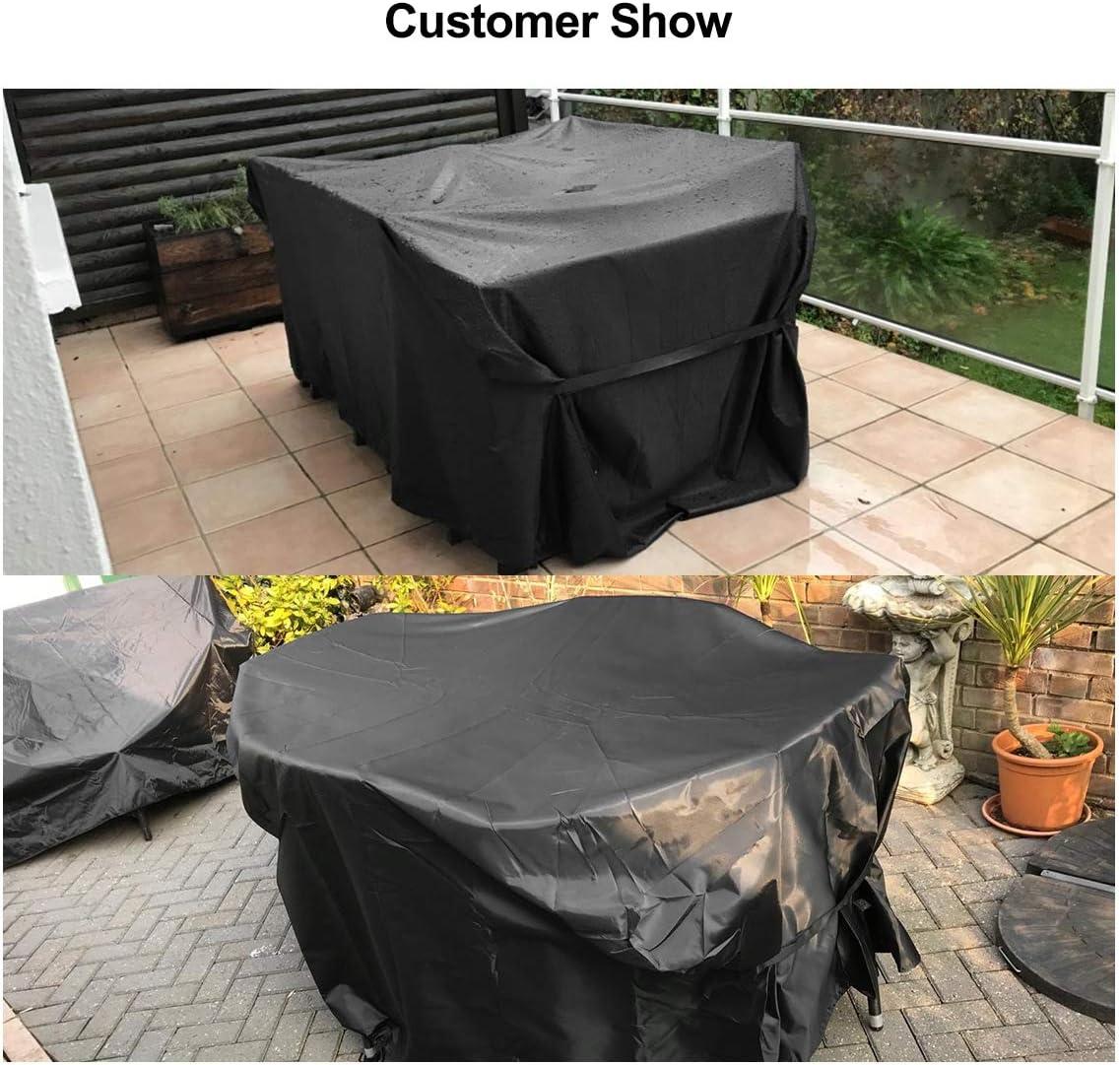 170x94x70 cm FlyLemon Copertura Tavolo Giardino,Protezioni del Patio Anti-UV Impermeabili in Tessuto 600D Oxford con Dieci Dimensioni.