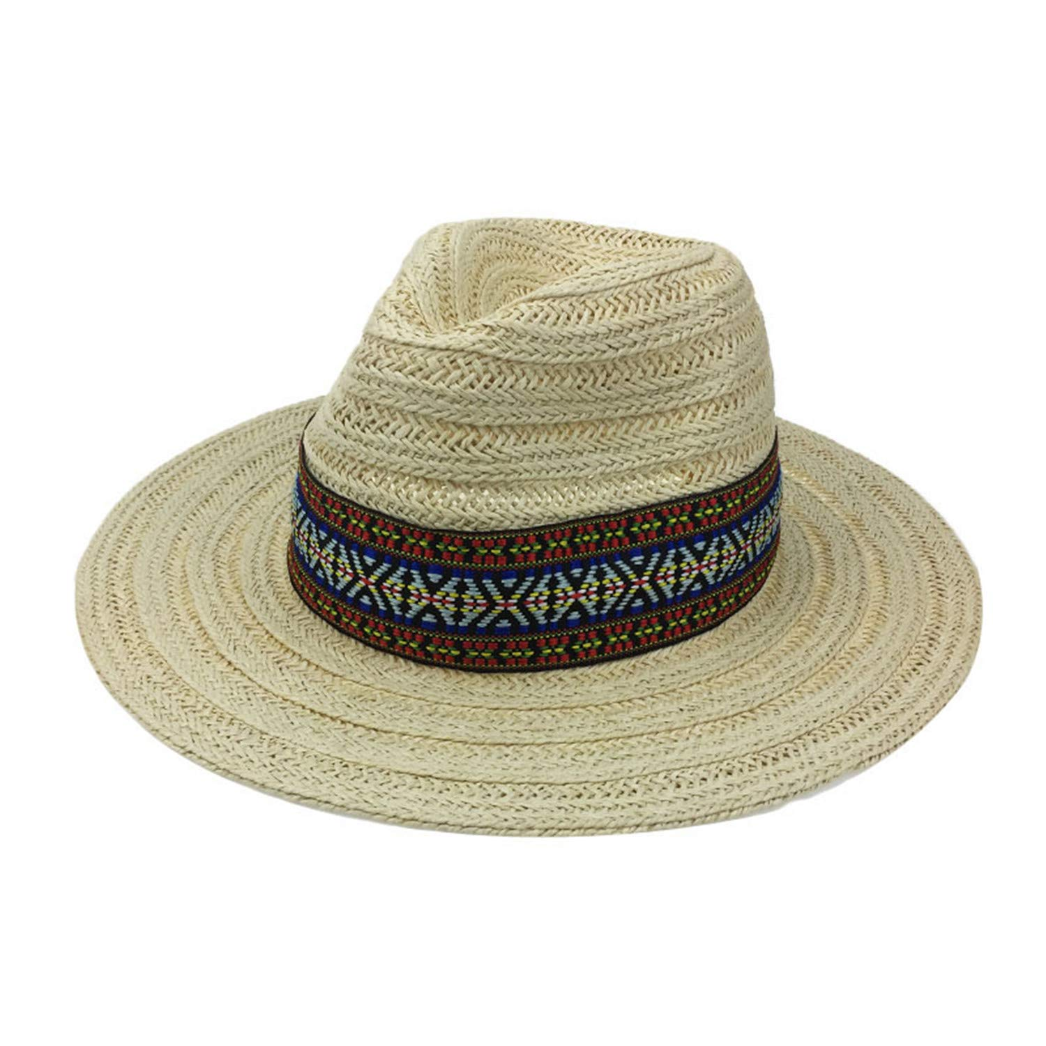Cookisn Women Beach Sunhat Man Gorras para Mujer Verano YY18048 Beige Straw Panama Free at Amazon Womens Clothing store: