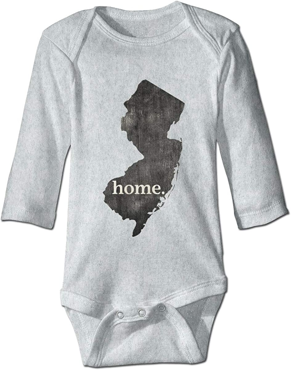 Marsherun Newborn Baby Girl Boy New Jersey is My Home Long Sleeve Climbing Bodysuits Playsuits