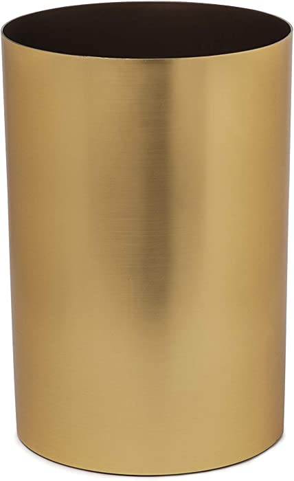 Umbra, Matte Brass Metalla 4.5-Gallon Trash Can