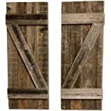 BarnwoodUSA | Rustic Farmhouse Window Shutters (Set of 2) | Made of 100% Reclaimed and Recycled Wood | Rustic Interior…
