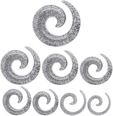 tumundo Set Acrilico Espiral Extensor Dilatador Taper Piercing ...
