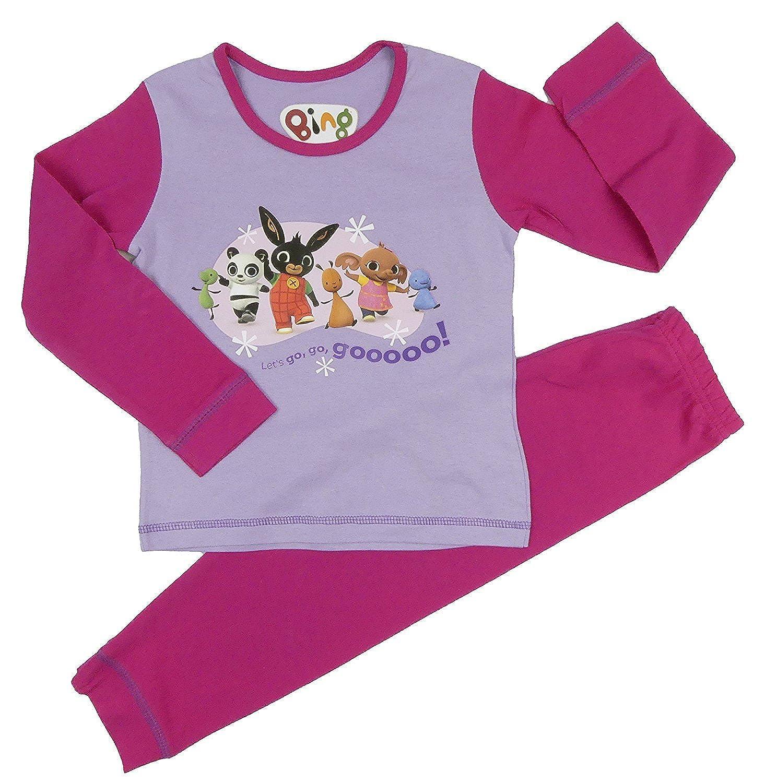 Girls Bing Pyjamas CBeebies Character 18-24m 2-3y 3-4y 4-5y 100/% Cotton