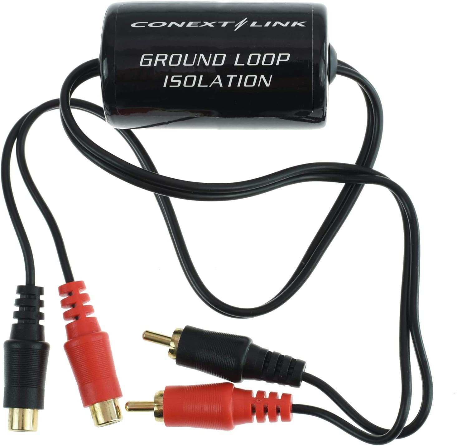 Conext Link AD104 RCA Stereo 2 Channel Ground Loop Isolator Signal Noise Filter Suppressor
