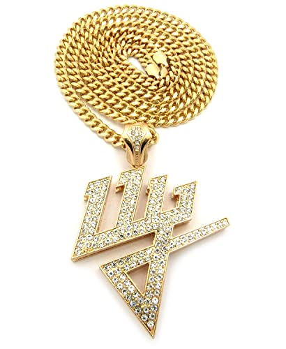 New Iced Out Daddy Yankee Dy Pendant 36 Cuban Link Chain Hip Hop