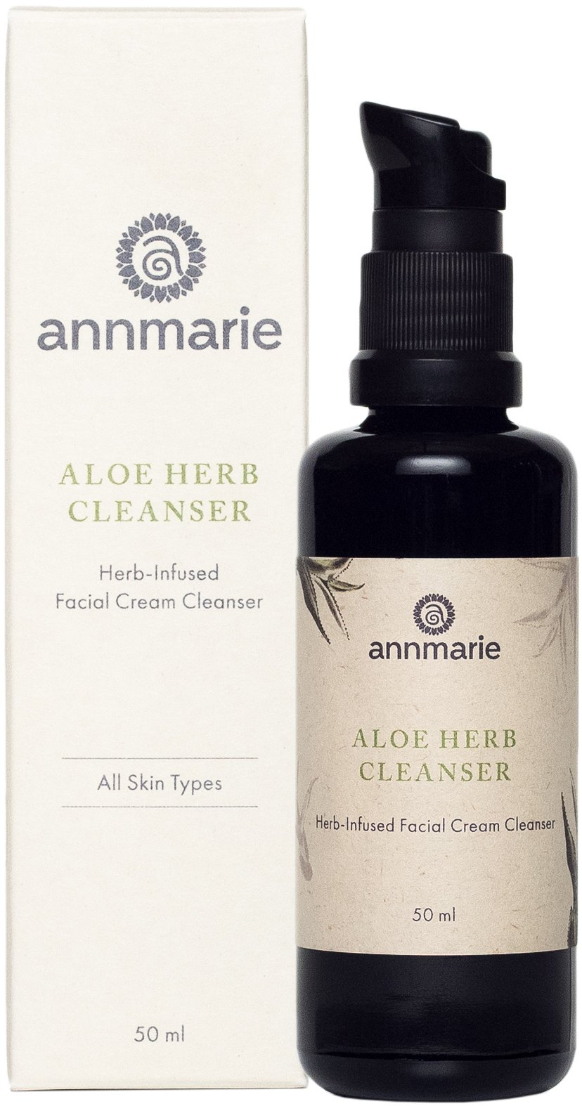 Annmarie Skin Care Aloe-Herb Facial Cleanser - Gentle Cleanser with Aloe Vera, Coconut Oil + Calendula, Suitable for All Skin Types (50 Milliliters, 1.7 Fluid Ounces)