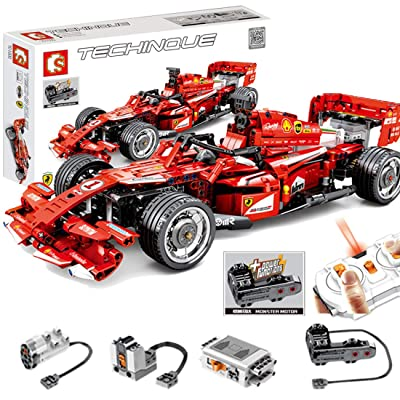 WOLFBSUH Race Car FRR-F1 Building Set STEM Toy, 585Pcs 2.4G Building Blocks and Engineering Toy Sports Car Model: Toys & Games