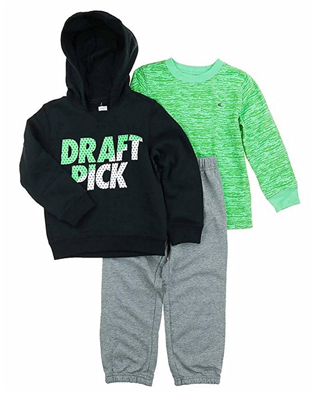 Jacket and Shirt 01 Carters Boys 3-Piece Set Pants Draft Pick 18 Months,