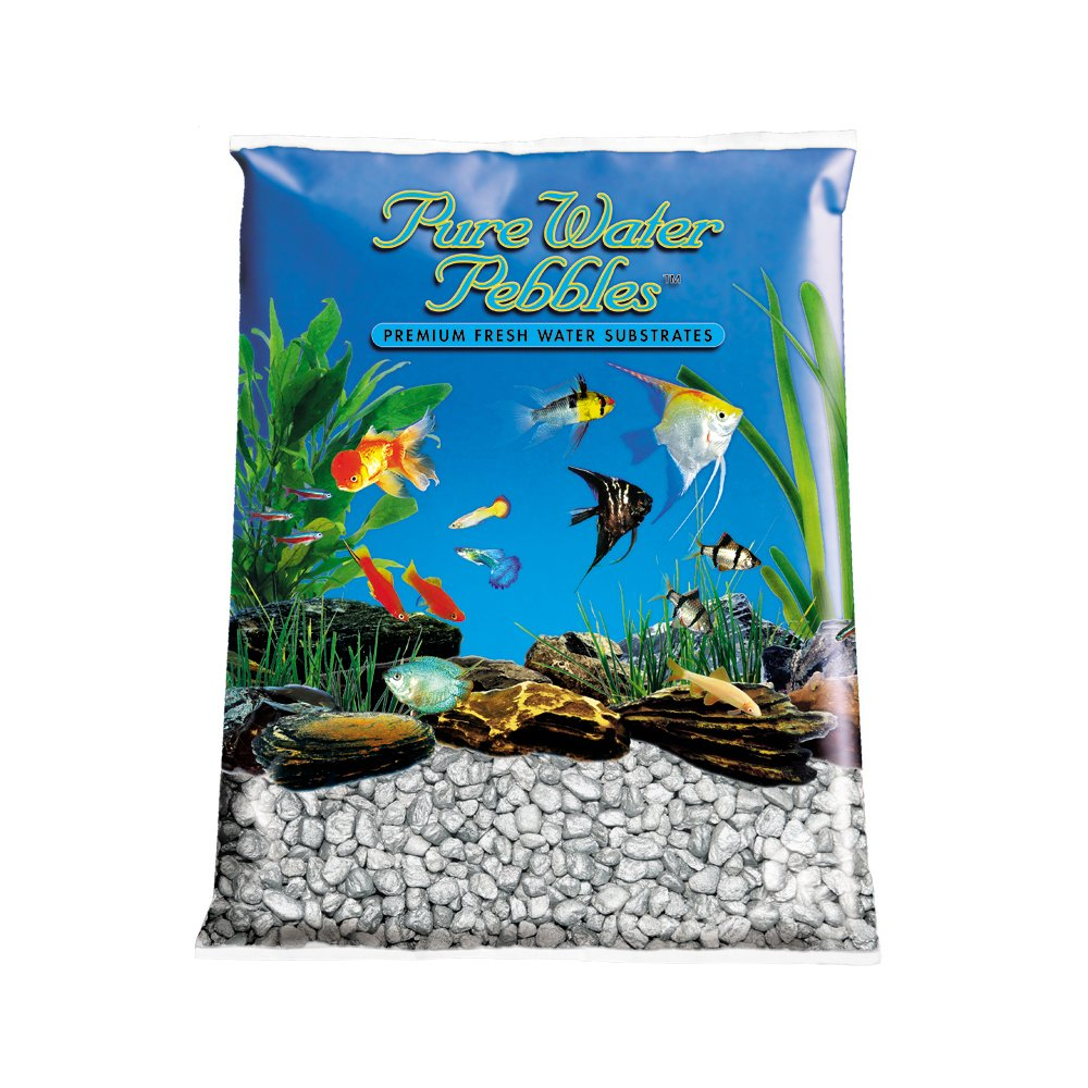 Pure Water Pebbles Aquarium Gravel, 25-Pound, Silver Frost by Pure Water Pebbles