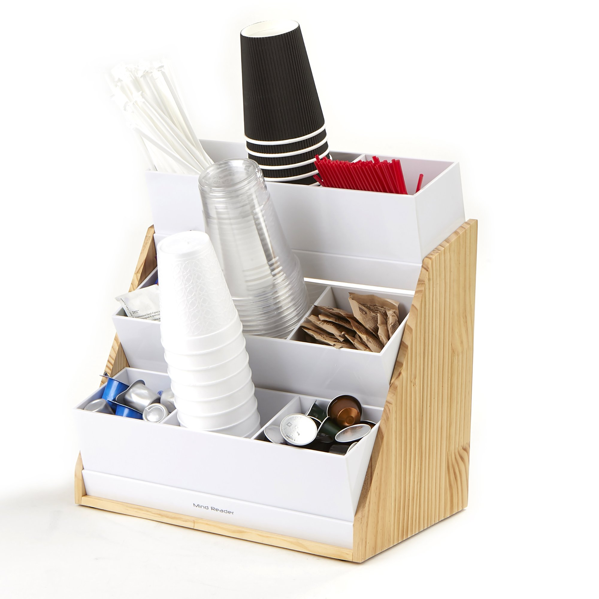 Mind Reader Condiment and Accessories Organizer, 9 Compartments, Wood by Mind Reader (Image #2)