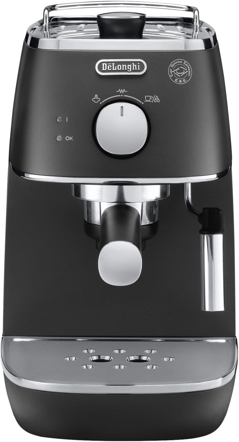 DeLonghi ECI 341.BK - Cafetera (Independiente, Máquina espresso, 1 L, Dosis de café, De café molido, 1100 W, Negro): Amazon.es: Hogar