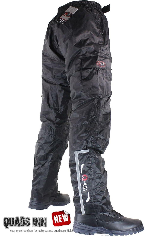 Qtech Surpantalon/Pantalon d'hiver de Moto - Imperméable, Thermique et Isolé - Livraison Gratuite - Noir - Jambe Régulière - L - Taille 44 Thermique et Isolé - Livraison Gratuite - Noir - Jambe Régulière - L - Taille 44