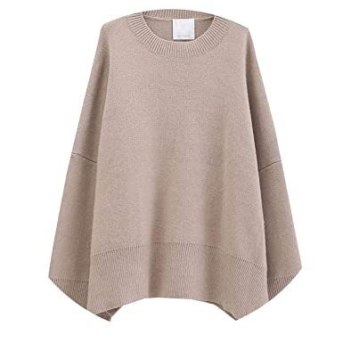 a4f5216314b Icena 2018 Autumn Winter Round Neck Long Sleeve Solid Color Thick Large  Size Knitted Sweater Women