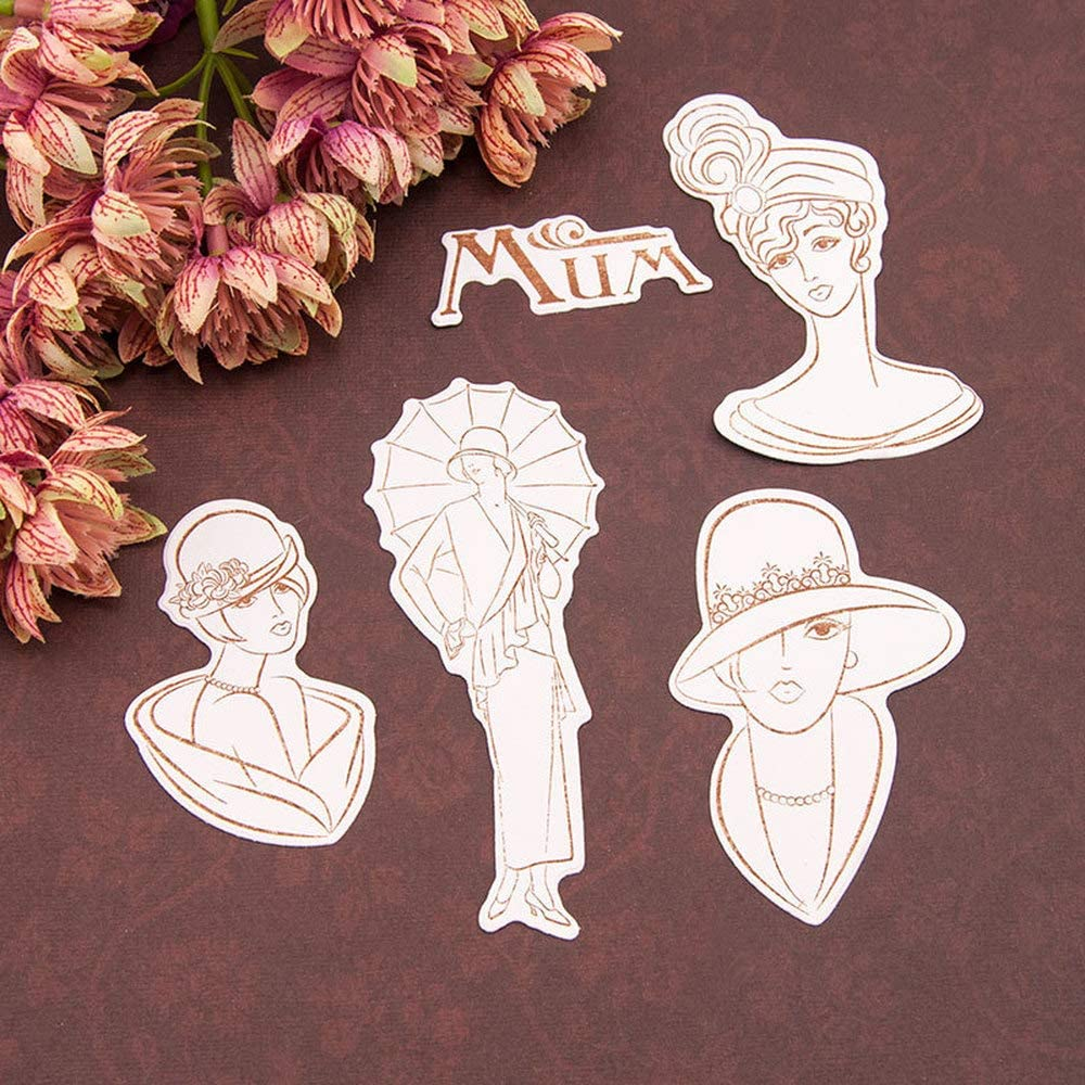 Mothers Day Mum Lady Sister vintage style fashion women Clear Stamps for Cards Making Decoration and Scrapbooking Rubber Stamps for Craft