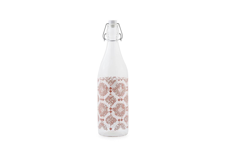 ArredandoCasa bis Botella roja 1L con Tapón blanco sin ...