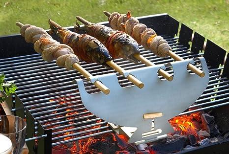Skewer 10 Stück Grillspieße aus Edelstahl Spiessgrill BBQ Churrasco Grill