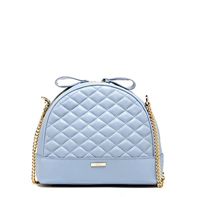 a7c62c6c712e Baby Blue Leather Crossbody Bags for Women Quilted Lambskin Purses Cute  Skyblue Purse Best Cross body