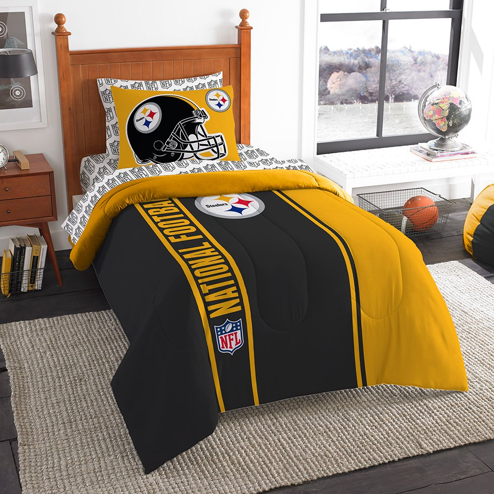 Nfl bedding for boys - The Northwest Company Northwest Steelers Soft Cozy Twin Comforter Set