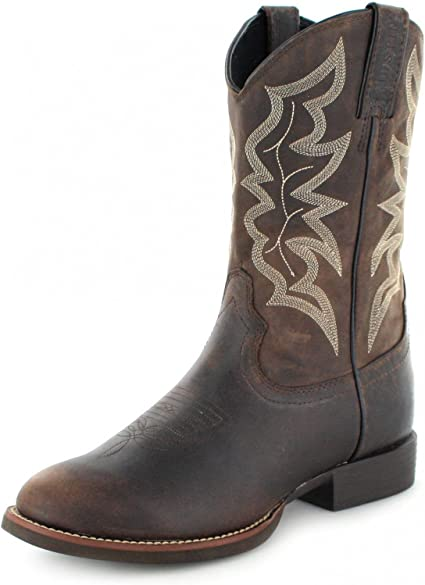 Buster Stampede Cowboy Boot Round Toe