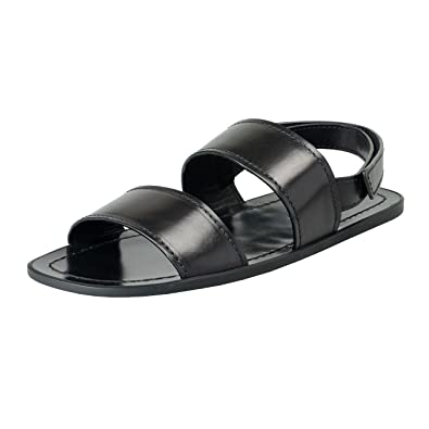 9eb1d8e50e54 Image Unavailable. Image not available for. Color  Prada Men s Black Leather  Strappy Sandals ...