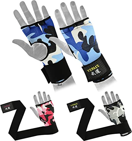 Inner Glove Hand Wraps Boxing MMA Training Muay Thai Padded Fist protectors