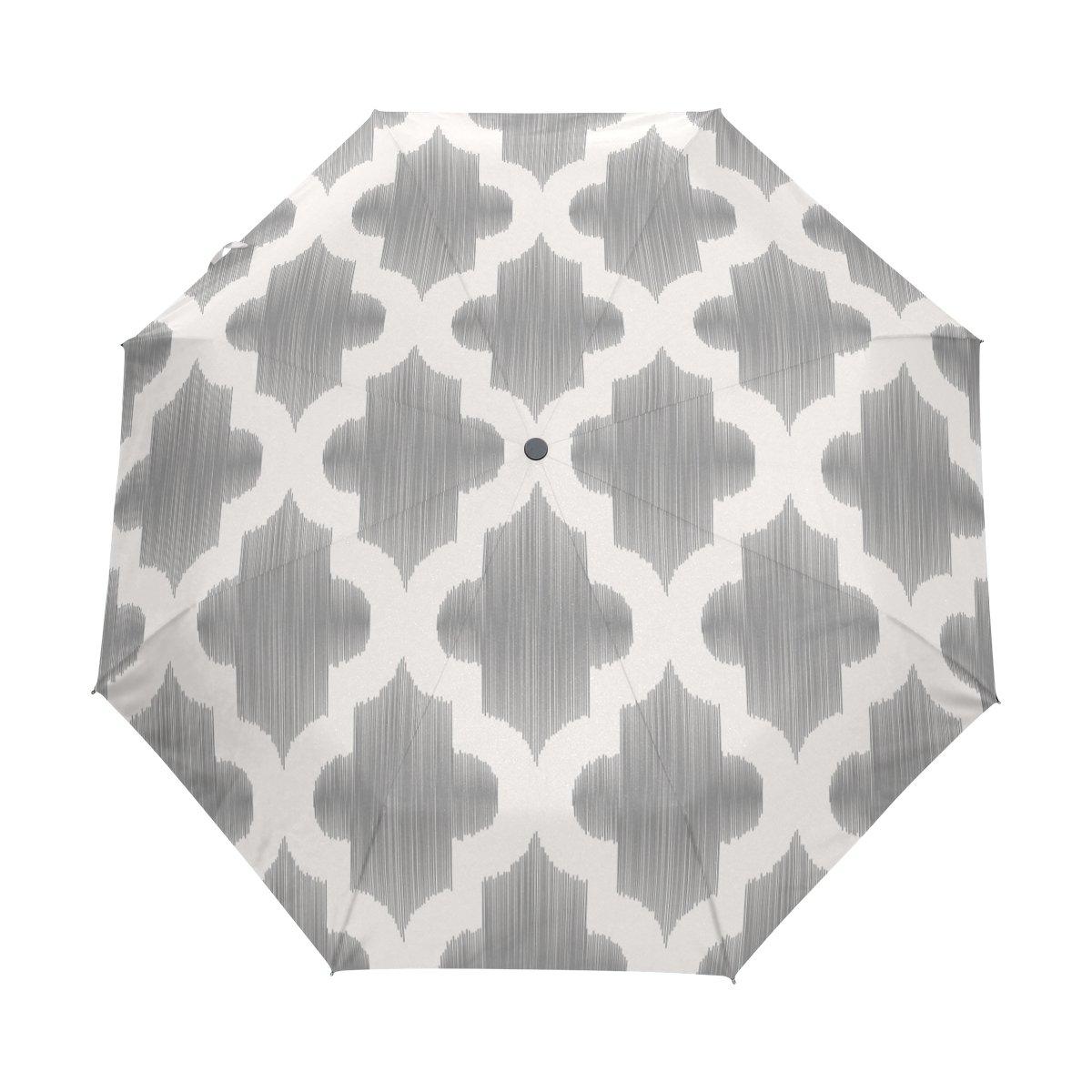 e341617fee99 GIOVANIOR White Grey Islamic Umbrella Double Sided Canopy Auto Open ...