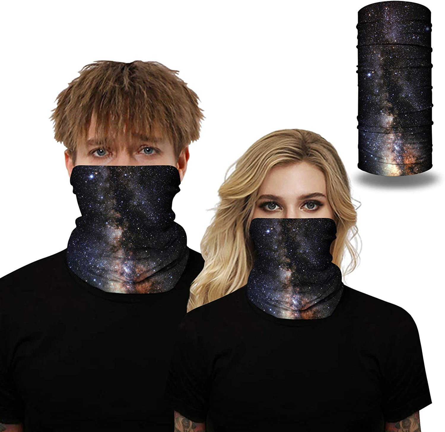 Bandana Face Scarf Men Women Neck Gaiter Washable and Reusable Camouflage Series for Fishing Running Rave Motorcycle
