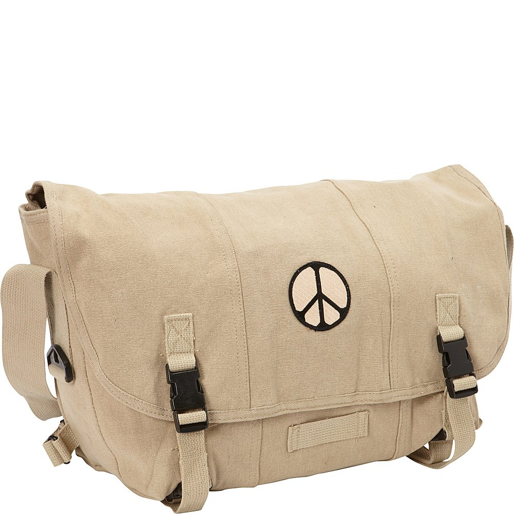 Fox Outdoor ProductsレトロCourierショルダーバッグ B000ZI2D9I Peace Khaki