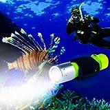 BlueFire 1100 Lumen CREE XM-L2 Scuba Diving Flashlight Waterproof Diving Torch Submarine Diving Safety Lights Underwater…